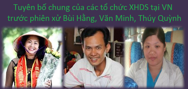 Joint statement of Vietnam CSOs on the coming trial of Bui Minh Hang, Nguyen Thi Thuy Quynh and Nguyen Van Minh